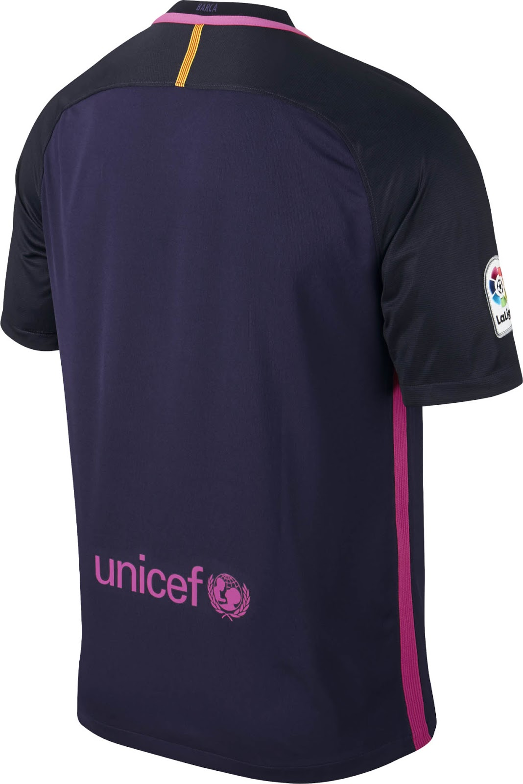 08542acf132 ... Barcelona Away Kit 2016-17 Back