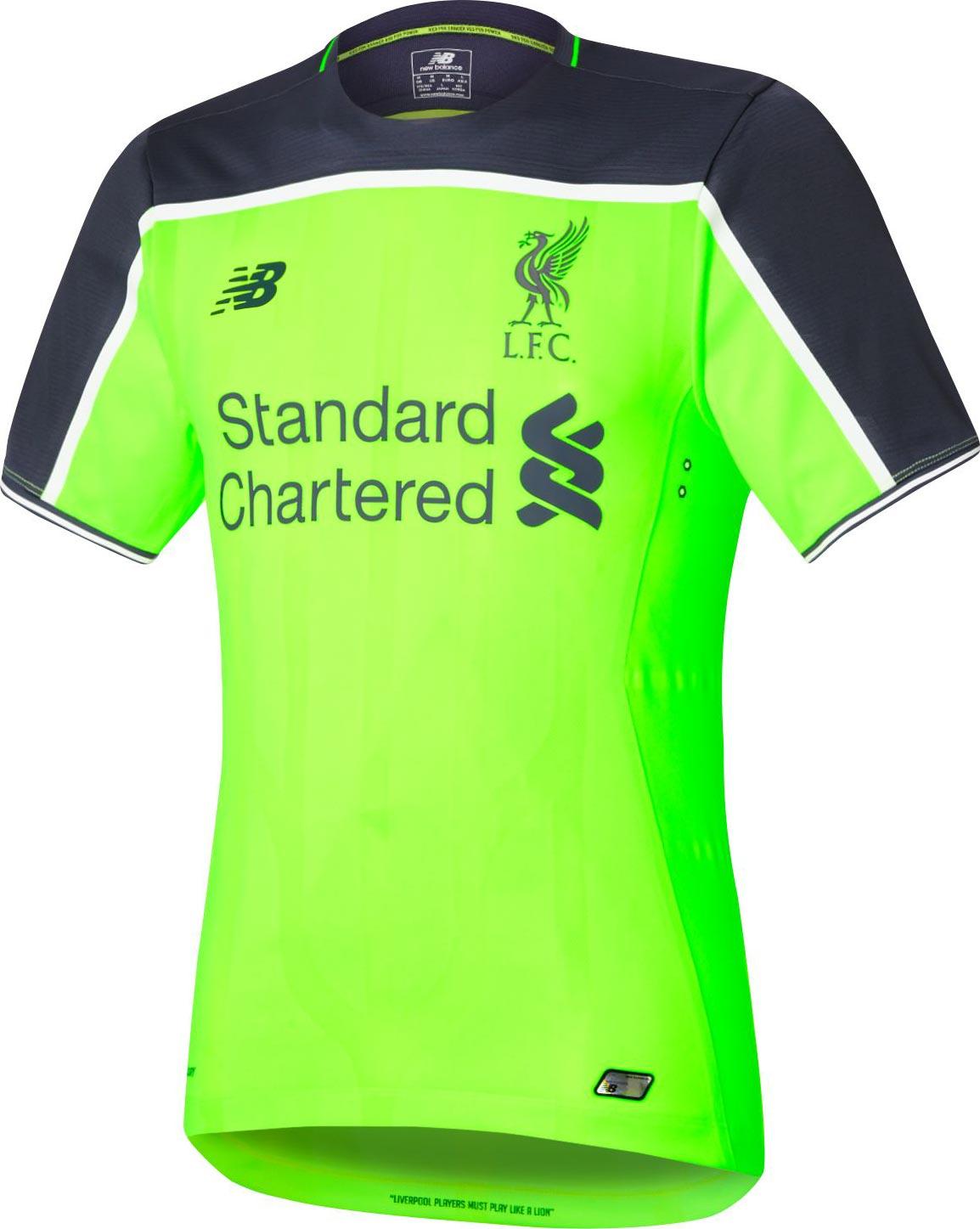 0ad6989781b Liverpool Third Kit 2016-17 Shirt ...
