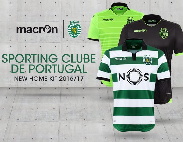 23b90a98e9d Sporting Club Portugal 2016-17 Kits Banner
