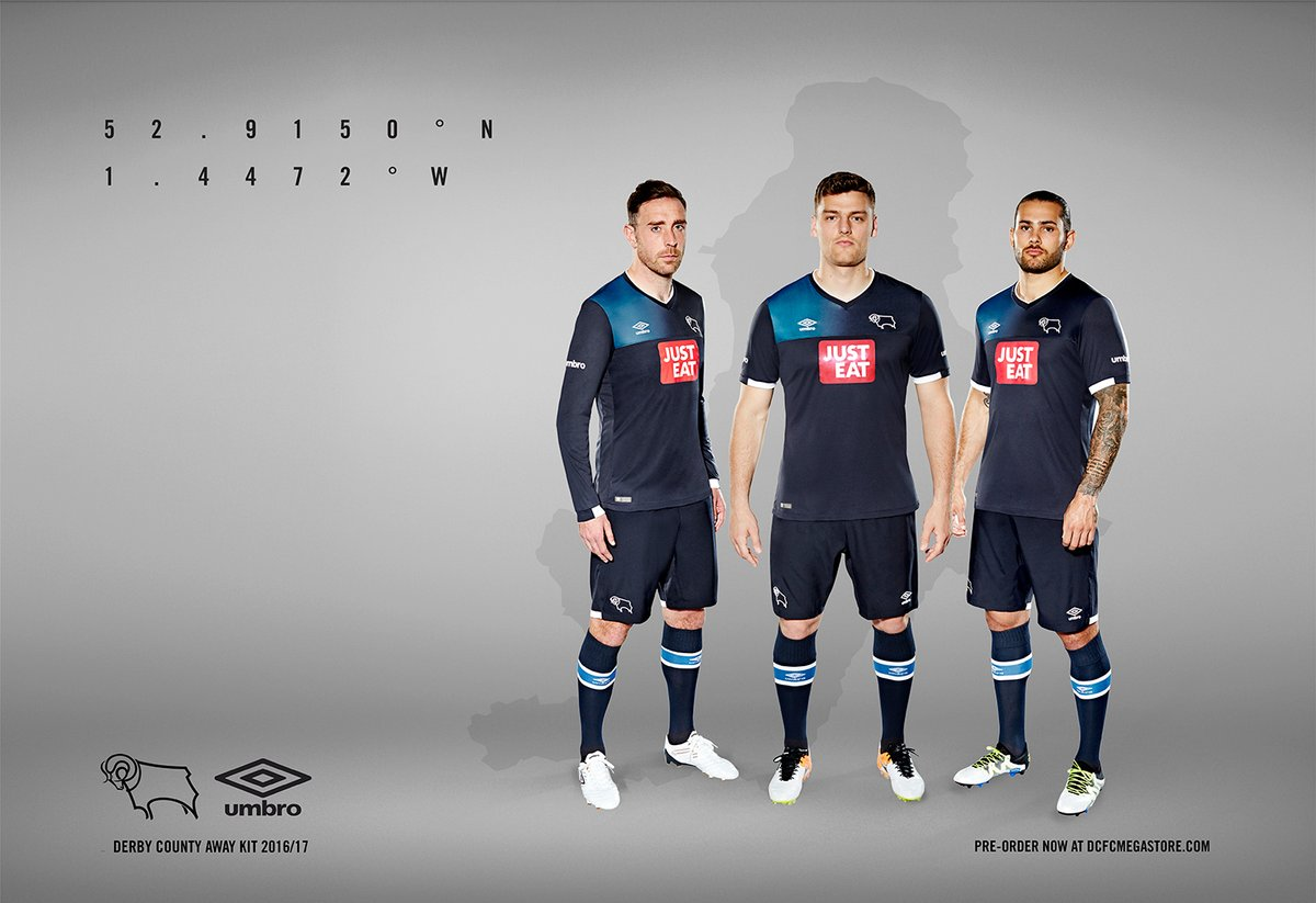Derby County 201617 Away Kit Launched