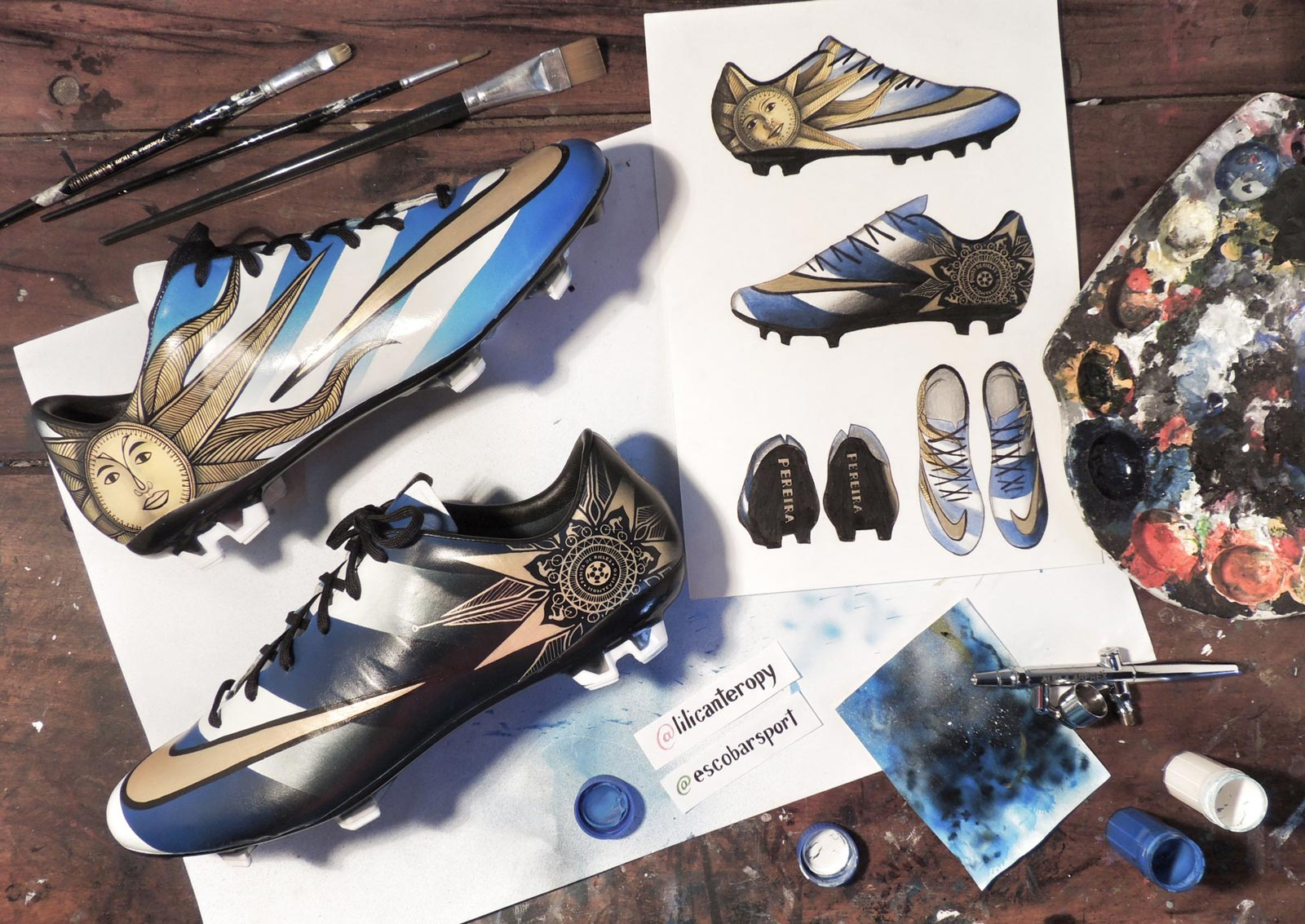 closer-look-alvaro-pereiras-custom-nike-mercurial-vapor-banner