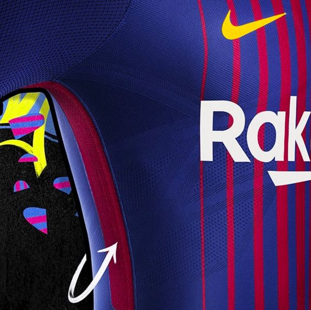 Outstanding barcelona 2017 18 home kit released - The body shop barcelona ...
