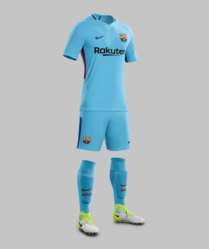 premium selection 22f25 b3d42 Sky Blue Thinking For Barcelona 2017-18 Away Kit