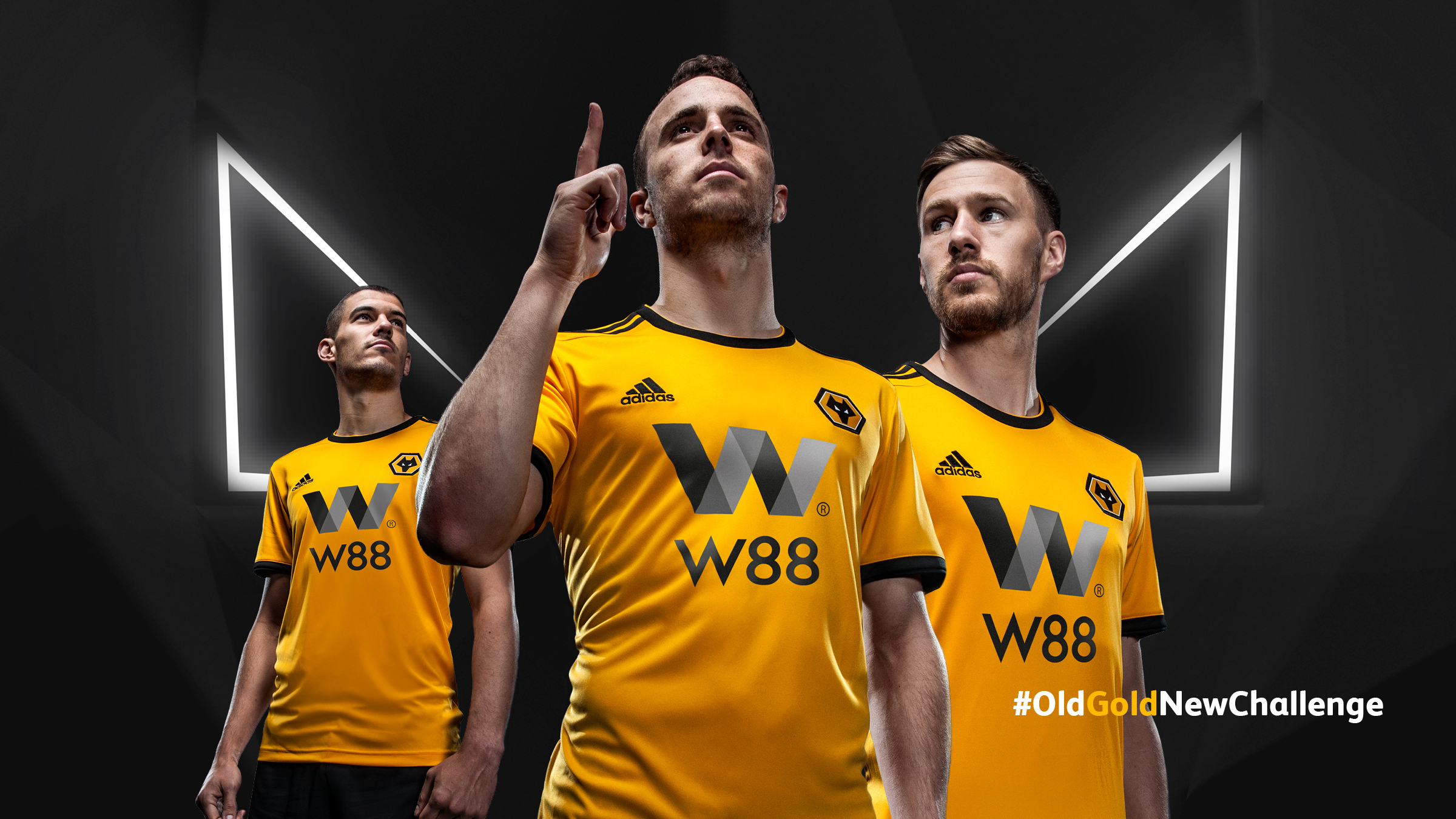 bde964f41a6 Wolverhampton Wanderers 2018 19 Home and Away Kits by Adidas