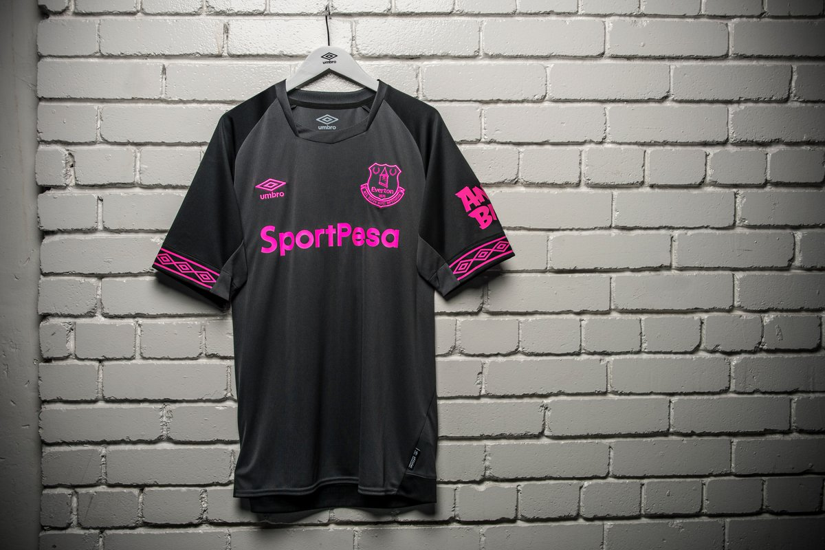Everton Reveal Their  Pink Glo  2018 19 Away Kit by Umbro d45df78ca