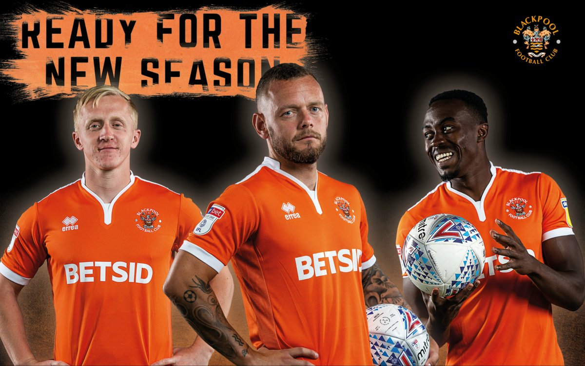 Blackpool F C Reveal Their 2018 19 Home Kit By Errea