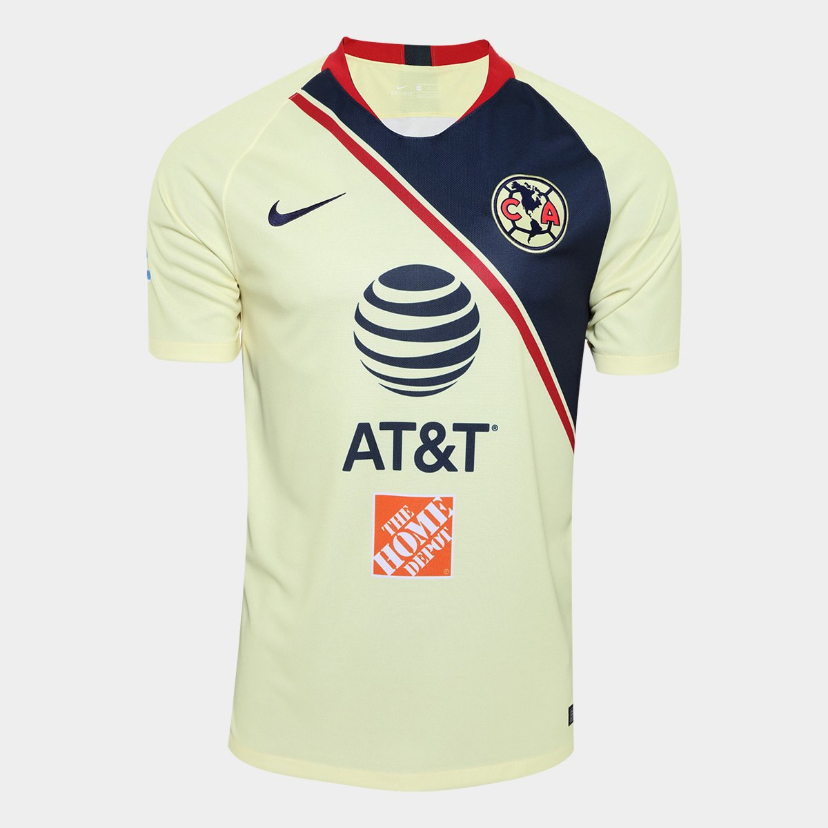 eaa83cf6e club america club america 18 19 nike home kit b. The kit itself is bright  gold. To reflect the colouring of the club s crest