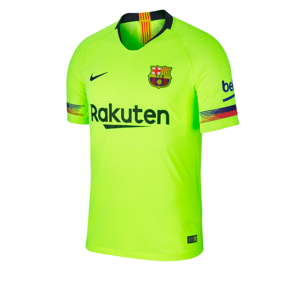 5e55559fb45 barcelona 18 19 nike away kit a barcelona 18 19 nike away kit b. The away  kit is bright yellow ...