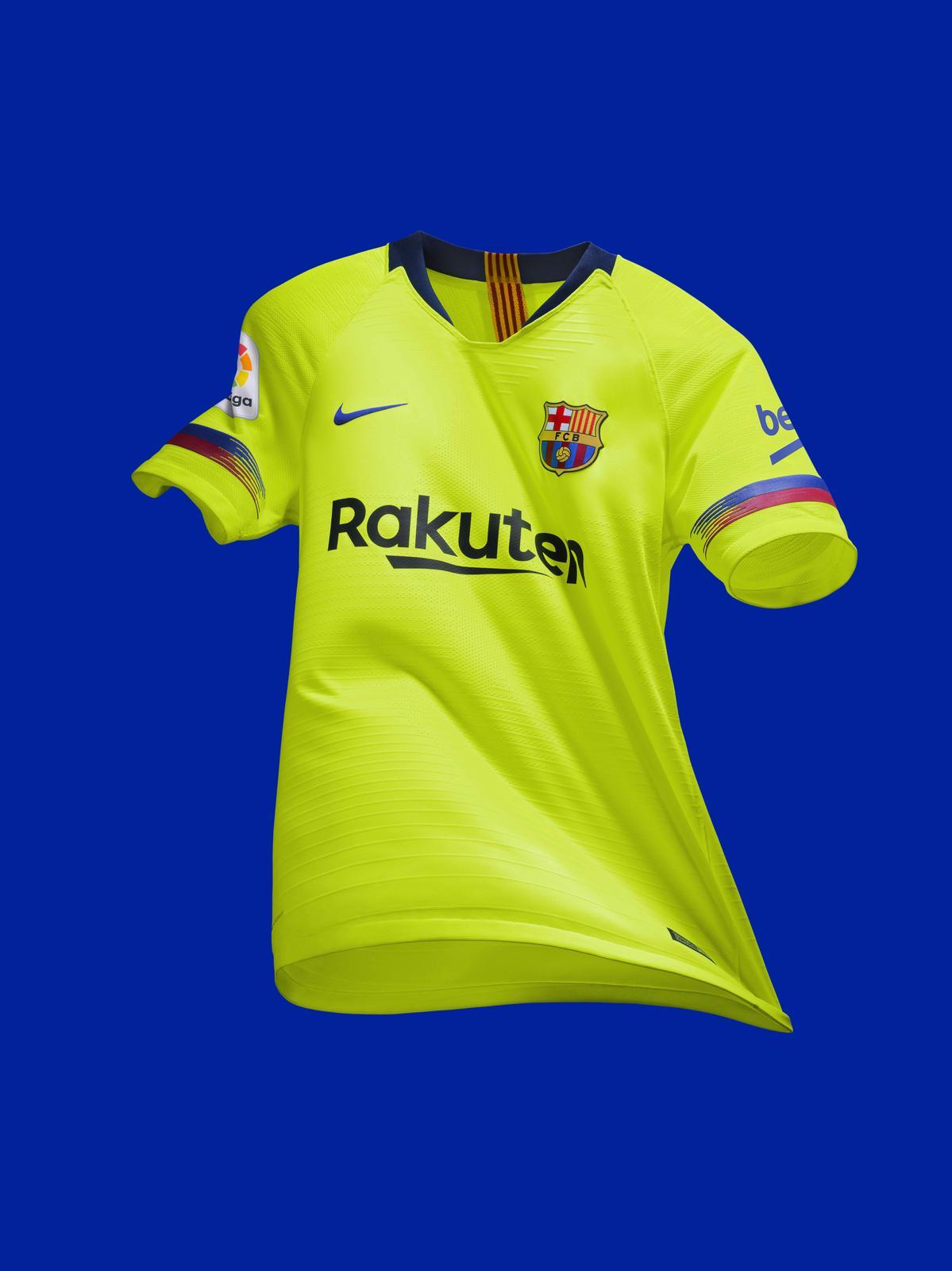 e9800663d1d Barcelona Reveal Their 2018 19 Lime Green Away Kit