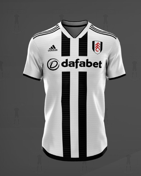 10b039b8edc The home kit is white. No shocks there. Running vertically up the centre of  the jersey are two black stripes. The stripes themselves have horizontal  lines ...