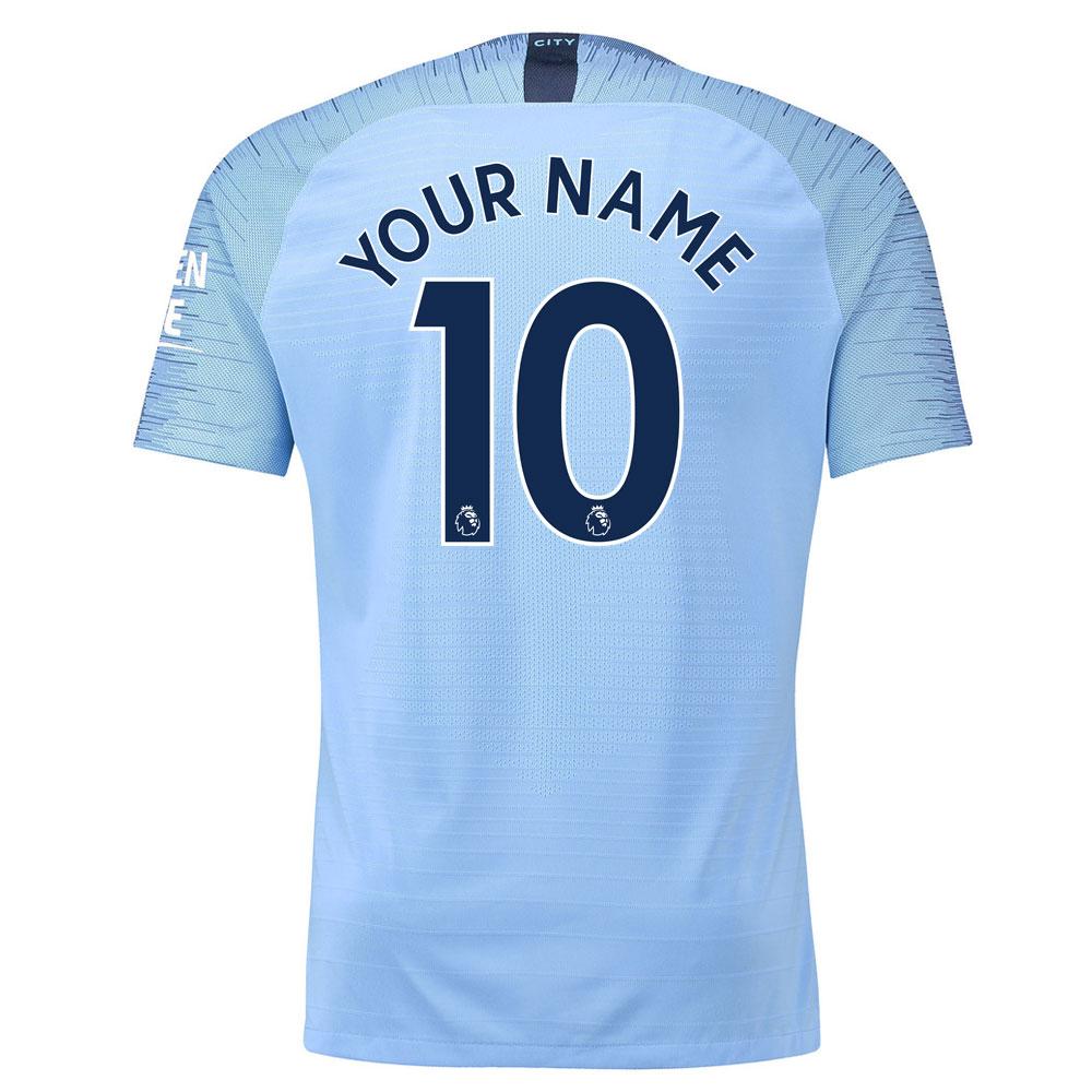 2018-2019 Man City Nike Vapor Home Match Shirt (Your Name)