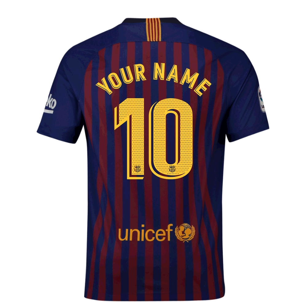2018-2019 Barcelona Vapor Match Home Nike Shirt (Your Name)