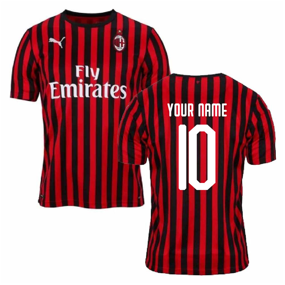 2019-2020 AC Milan Puma Authentic Home Football Shirt (Your Name)