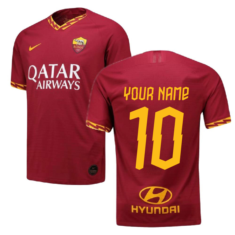 2019-2020 Roma Authentic Vapor Match Home Nike Shirt (Your Name)