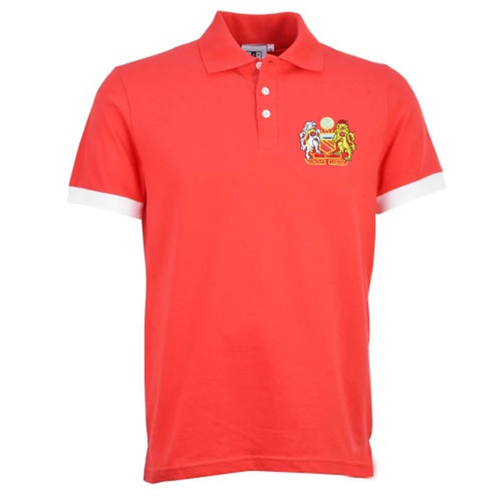5d7273c6c Manchester United Retro Red Polo Shirt