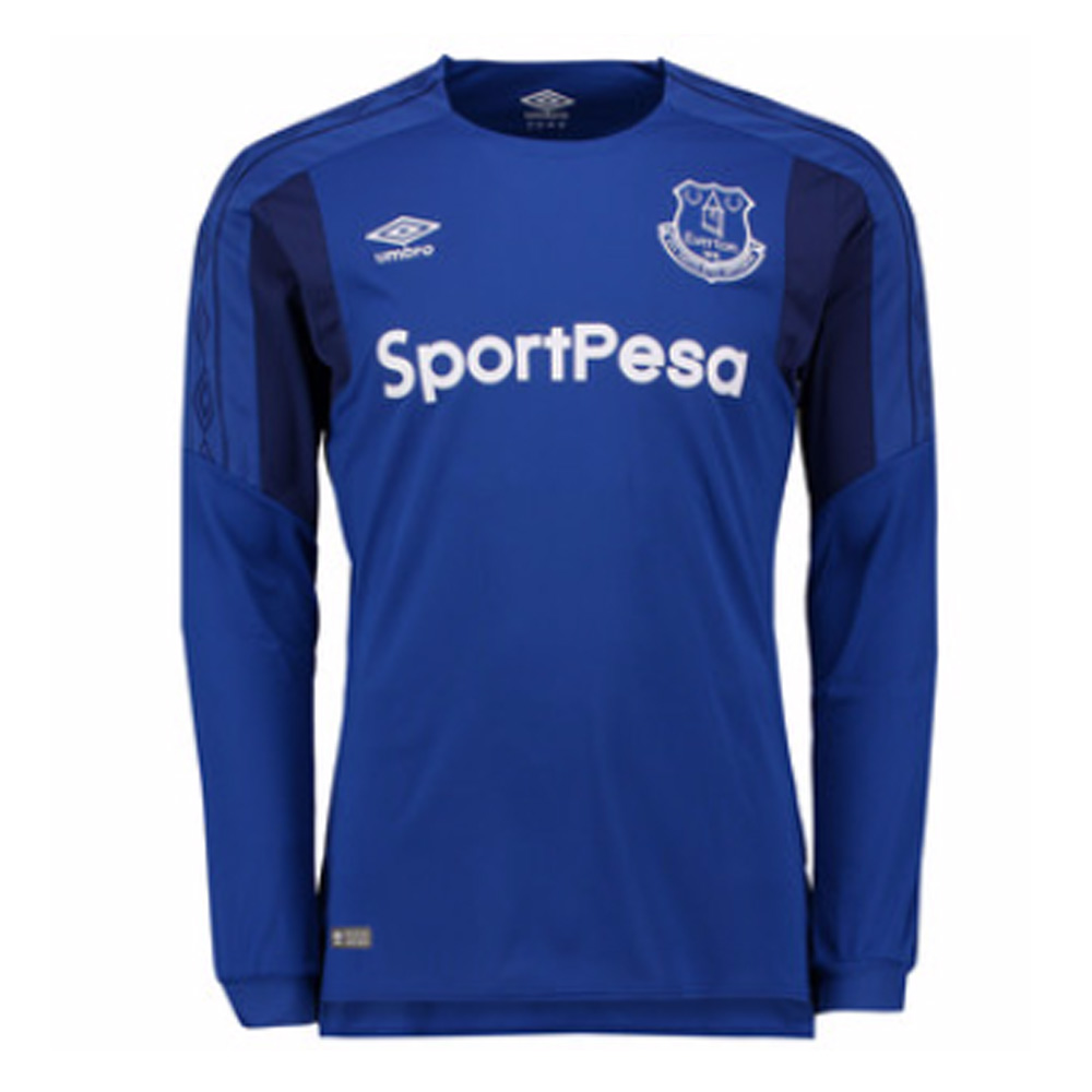 2017-2018 Everton Umbro Home Long Sleeve Shirt