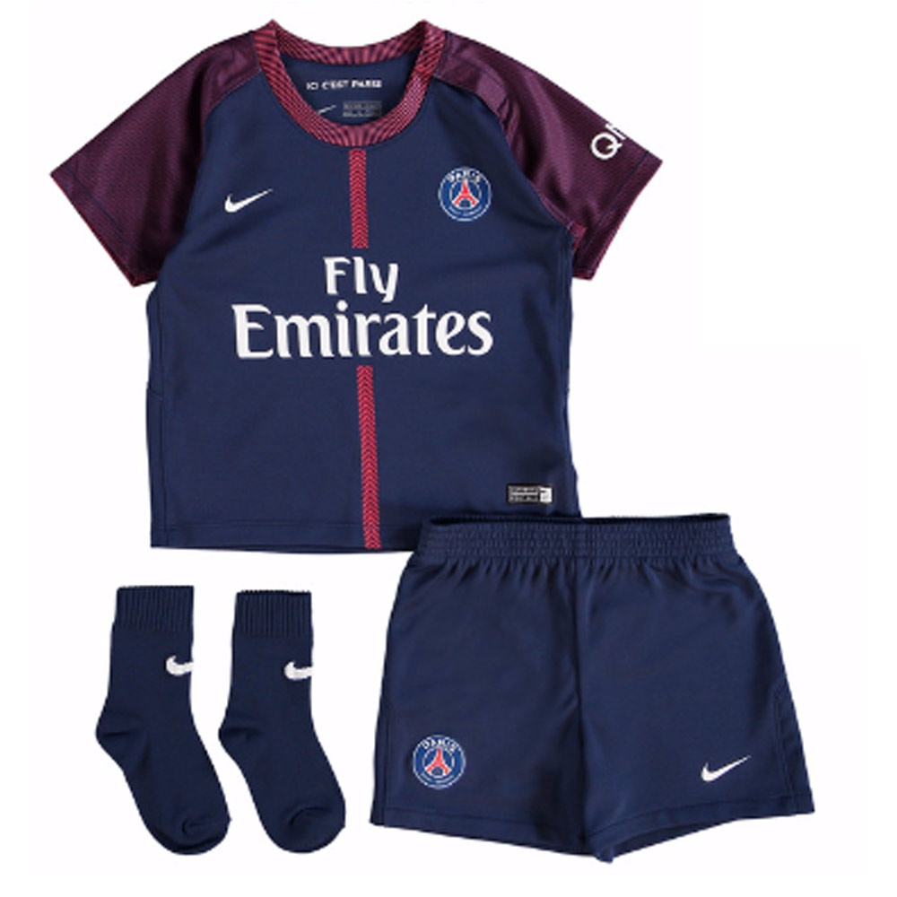 low priced 5d30a 4b574 2017-2018 PSG Home Nike Baby Kit