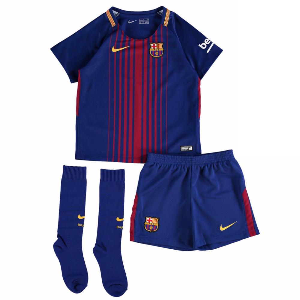 f3cd21f6446 2017-2018 Barcelona Home Nike Little Boys Mini Kit  847355-457  -  Uksoccershop