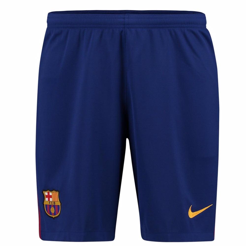 2017-2018 Barcelona Home Nike Football Shorts (Blue)