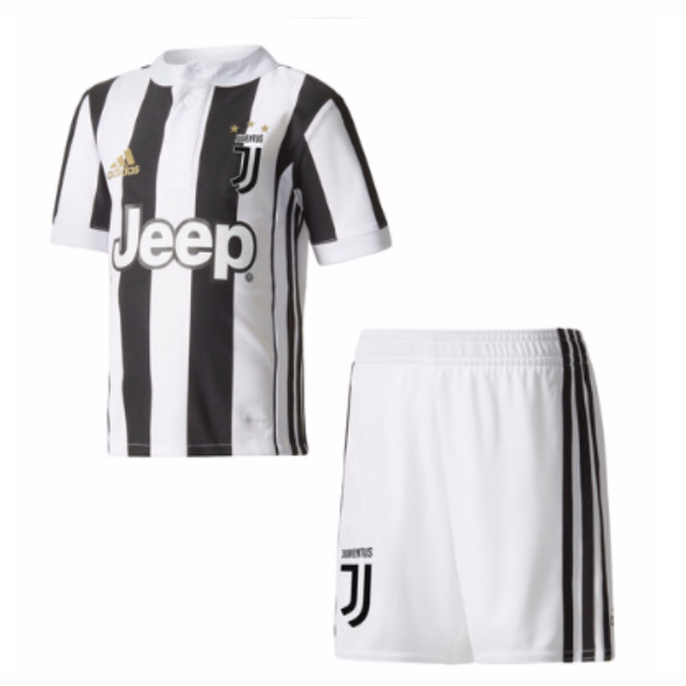 cheaper c1bf9 1bddb 2017-2018 Juventus Adidas Home Mini Kit