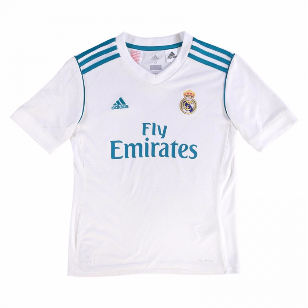 new product 7d184 b01d7 2017-2018 Real Madrid Adidas Home Shirt (Kids)