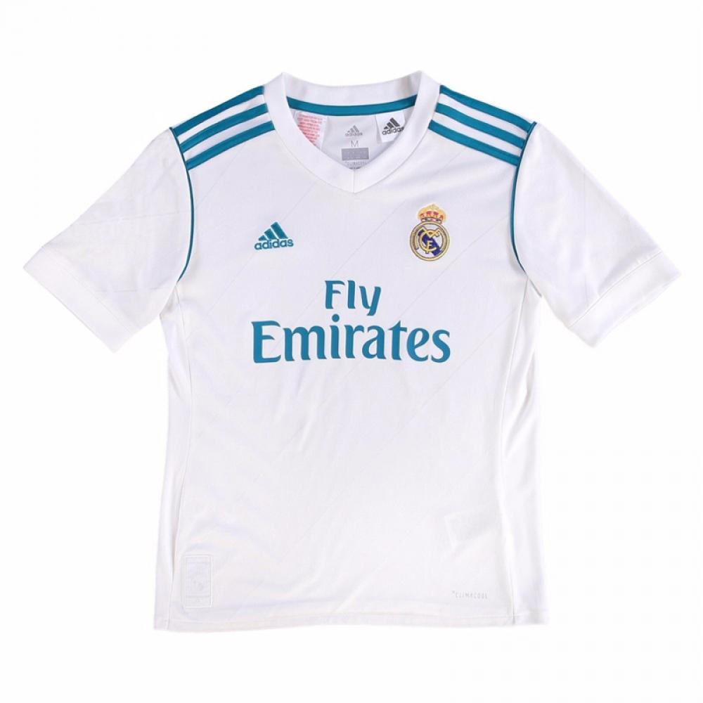 new product 405f8 b969b 2017-2018 Real Madrid Adidas Home Shirt (Kids)