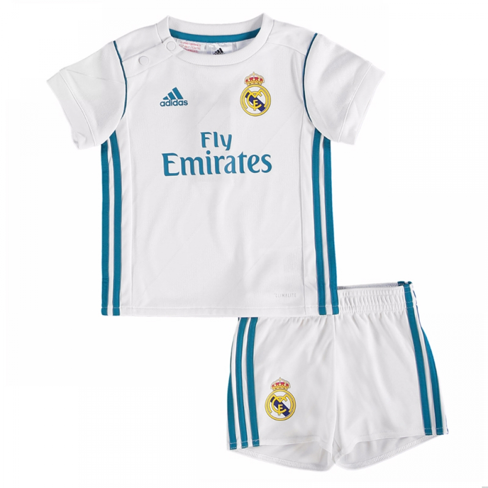 4473dd8d2 2017-2018 Real Madrid Adidas Home Baby Kit  B31098  - Uksoccershop