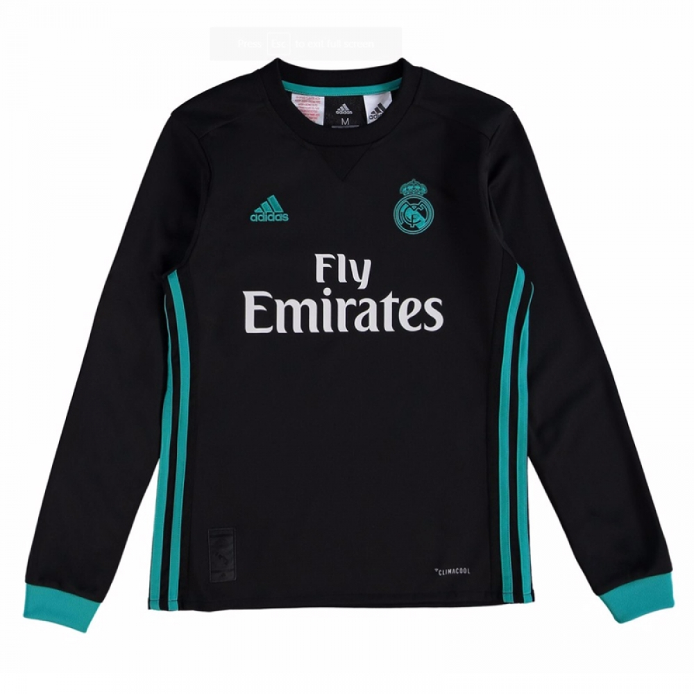 aba3dce6a09 2017-2018 Real Madrid Adidas Away Long Sleeve Shirt (Kids)  B31093  -  Uksoccershop