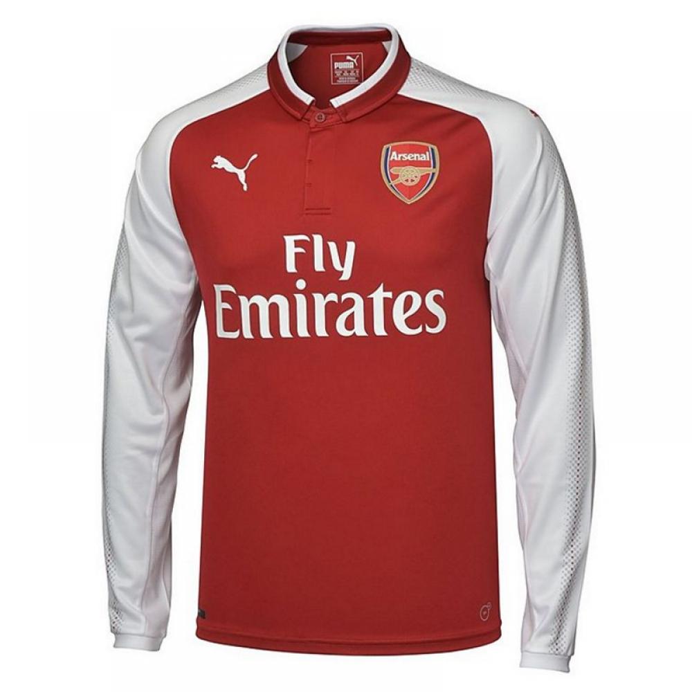 1dec1cbaf 2017-2018 Arsenal Puma Home Long Sleeve Shirt  75151002  - Uksoccershop