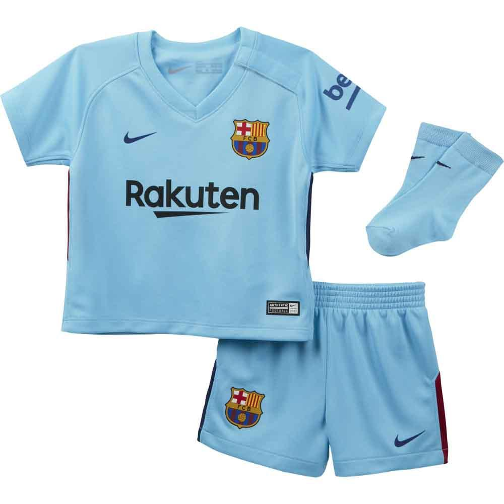 new style 0046a 962bf 2017-2018 Barcelona Away Nike Baby Kit