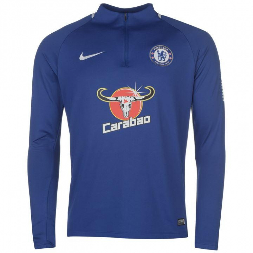 new styles 87e65 de357 2017-2018 Chelsea Nike Drill Training Top (Blue)
