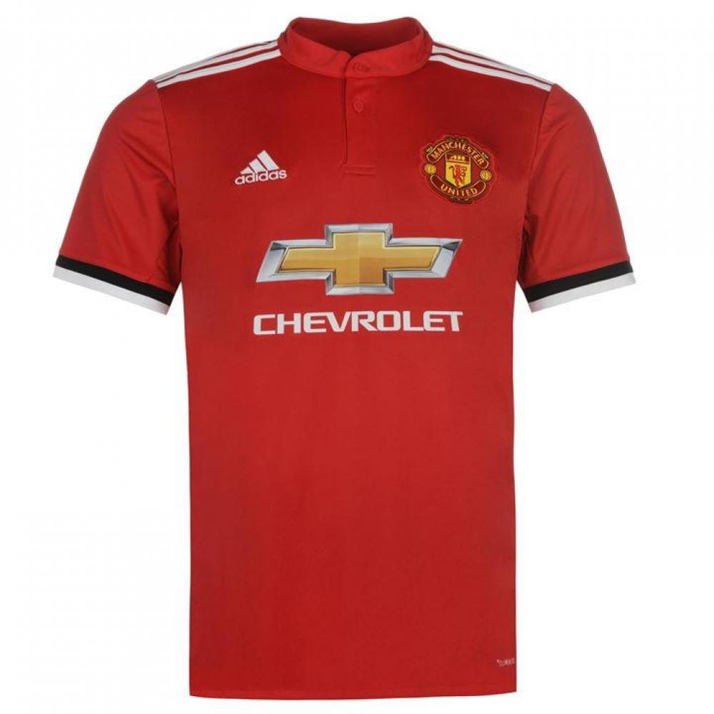 factory authentic ddd56 4edaa 2017-2018 Man Utd Adidas Home Football Shirt
