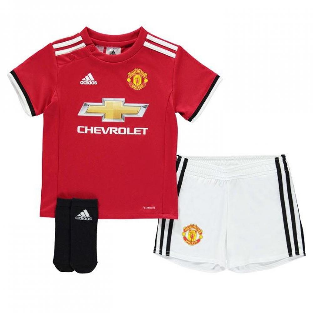 2bfe4b0ab 2017-2018 Man Utd Adidas Home Baby Kit  AZ7577  - Uksoccershop