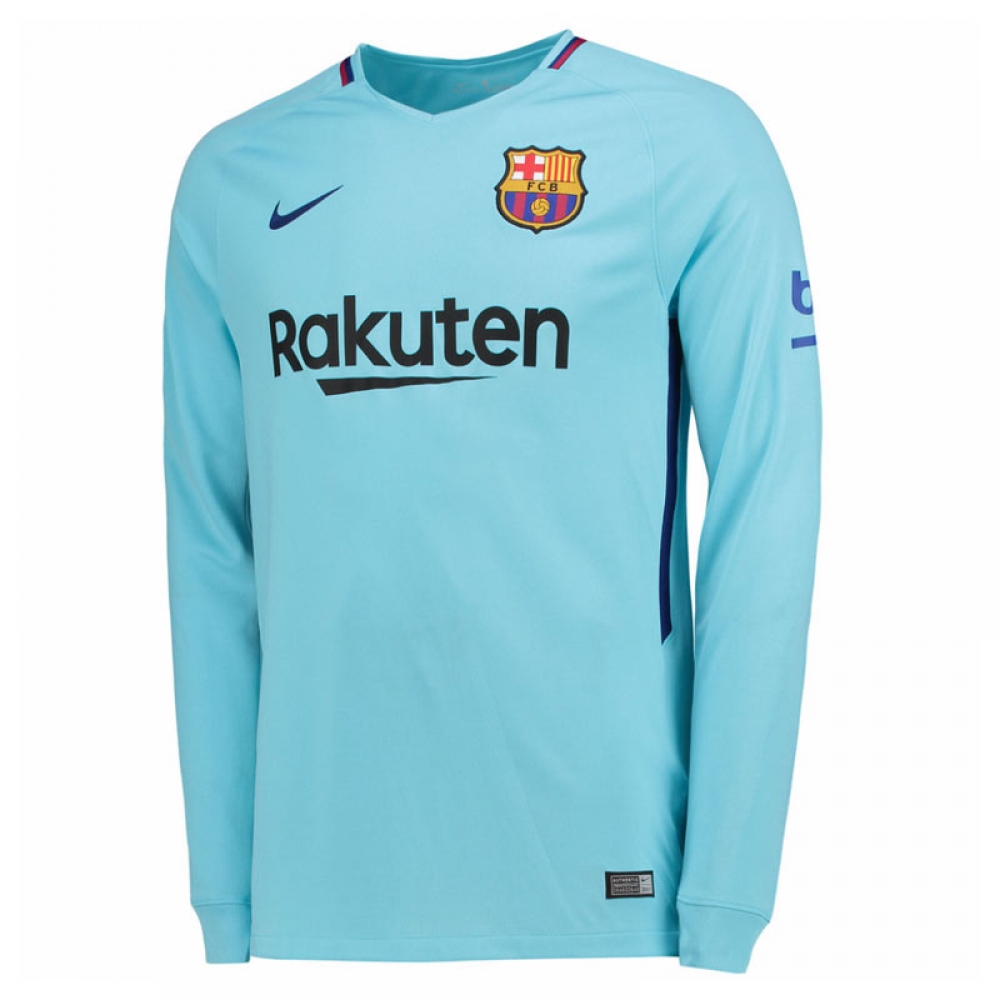 check out cf399 96eda 2017-2018 Barcelona Away Nike Long Sleeve Shirt
