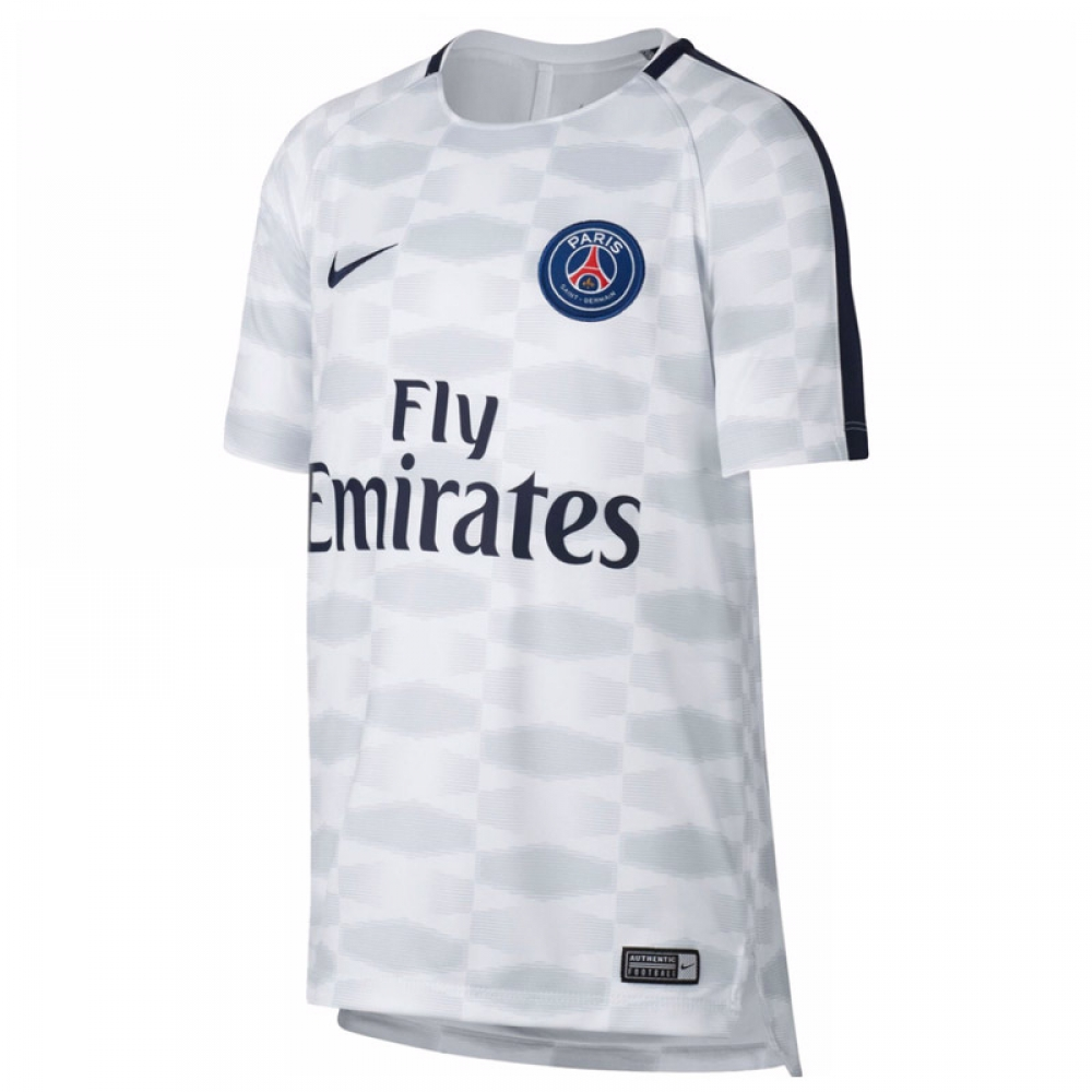 new concept bea5f 2c03d 2017-2018 PSG Nike Pre-Match Training Shirt (White) - Kids