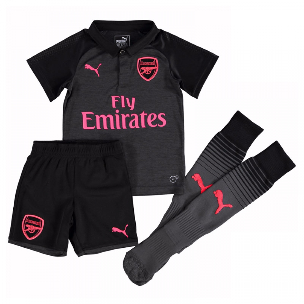 2017-2018 Arsenal Third Little Boys Mini Kit  75153606  - Uksoccershop 216445986