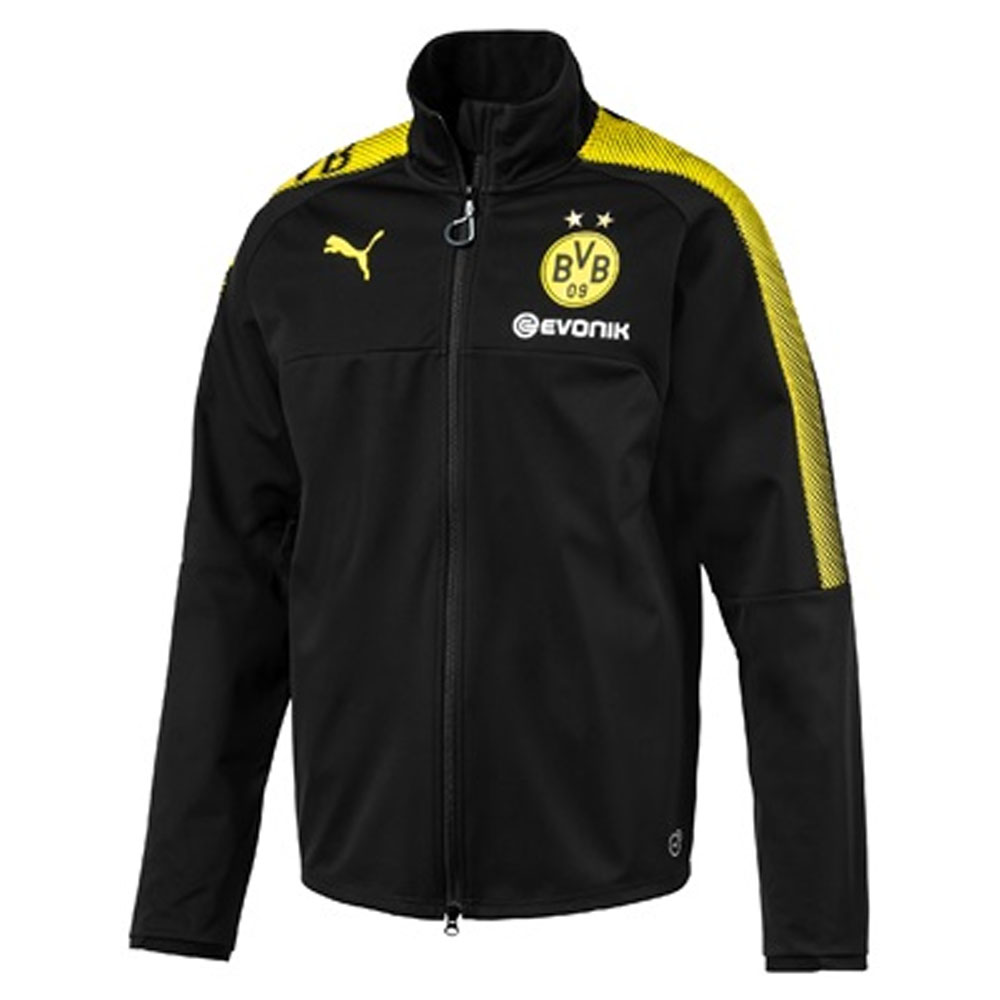 2017-2018 Borussia Dortmund Puma Softshell Training Jacket (Black)