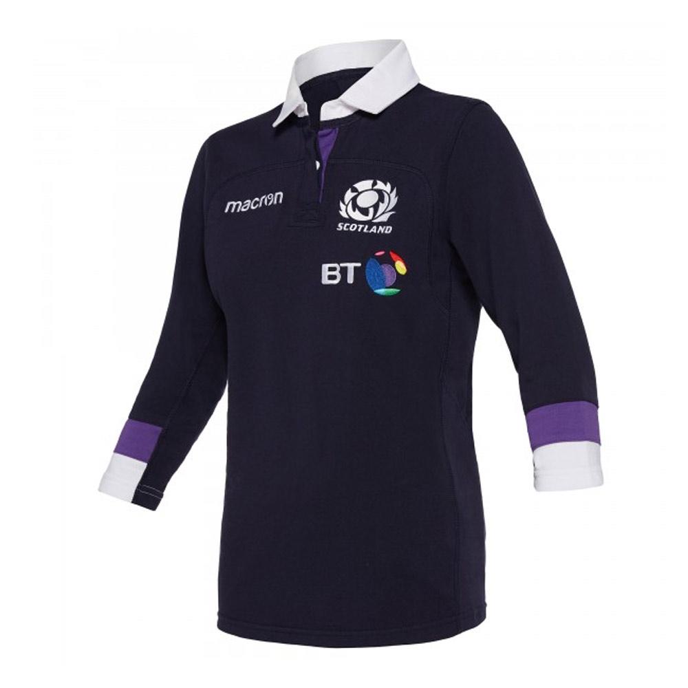 2017 2018 Scotland Macron Home Womens Cotton Rugby Shirt 58081875 Uksoccershop