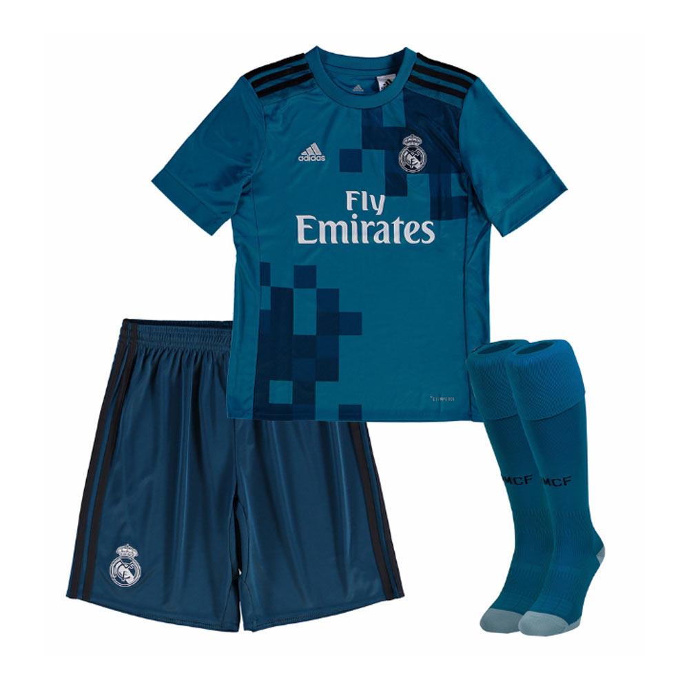 huge discount 6ea08 f5c05 2017-2018 Real Madrid Adidas Third Full Kit (Kids)