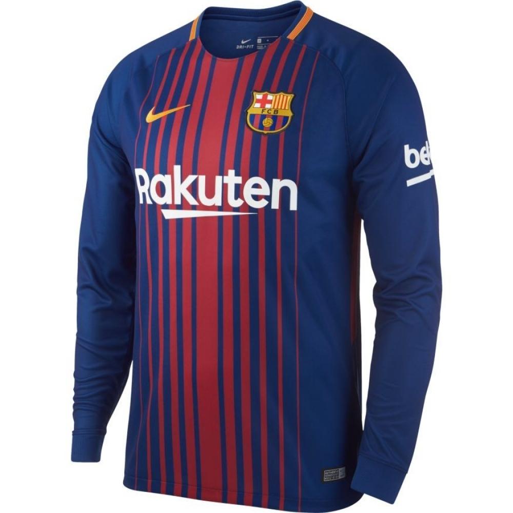 2017 2018 Barcelona Home Nike Long Sleeve Shirt 847252 456