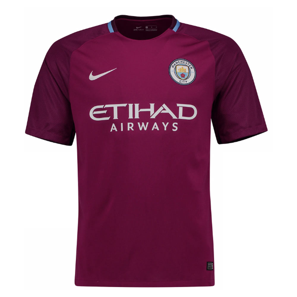 brand new 99346 c883c 2017-2018 Man City Away Nike Football Shirt (Kids)