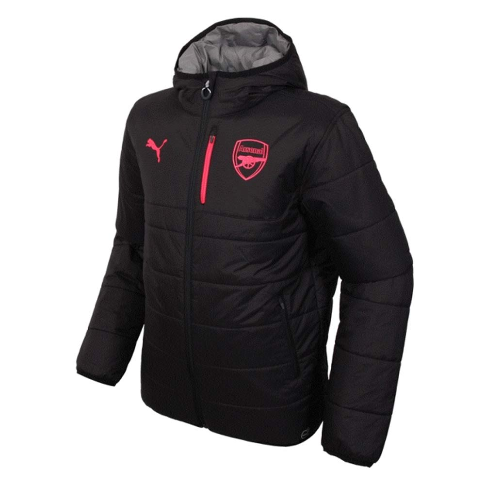 2017-2018 Arsenal Puma Reversible Jacket (Black-Grey)