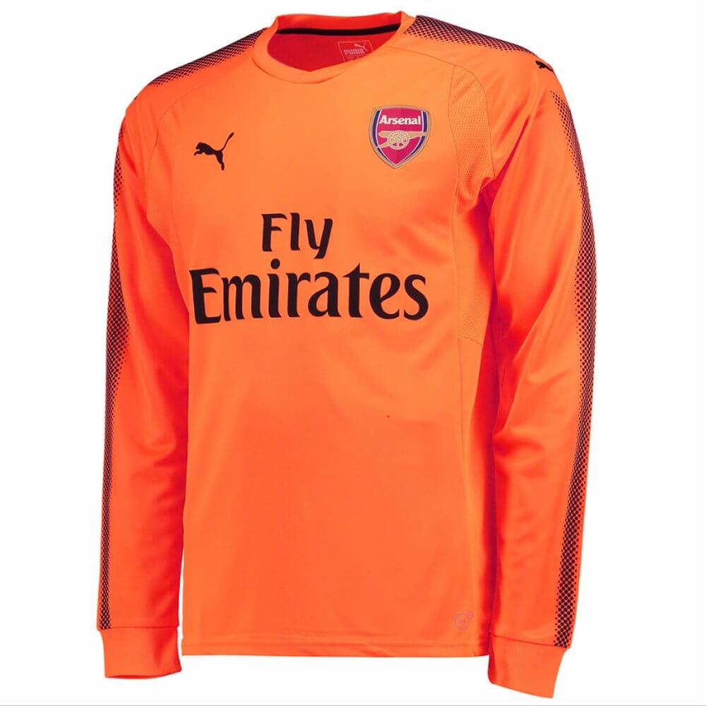495c58ebfe6 2017-2018 Arsenal Puma Away LS Goalkeeper Shirt (Orange)  75149521  -  Uksoccershop