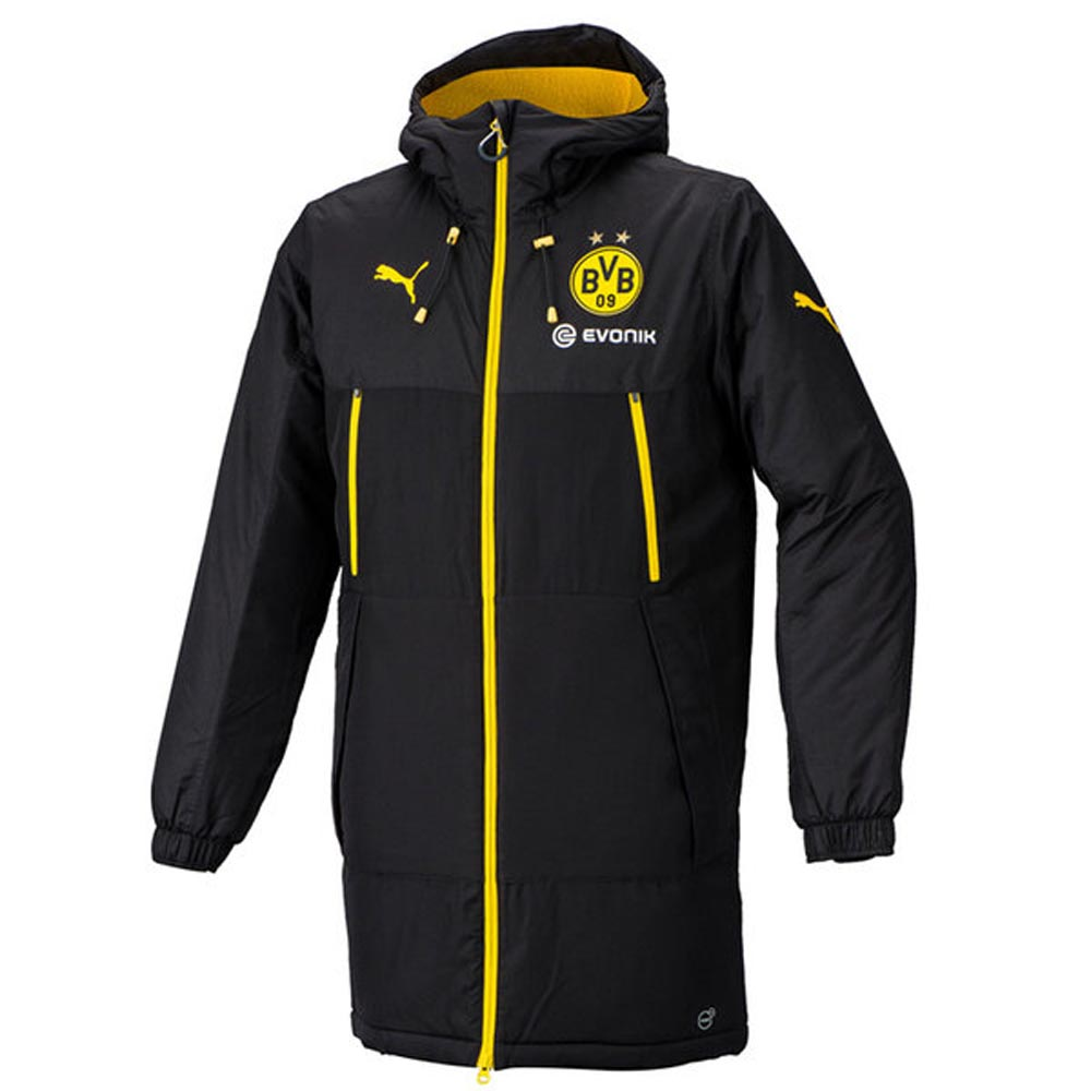2017 2018 borussia dortmund puma bench jacket yellow Bench jacket