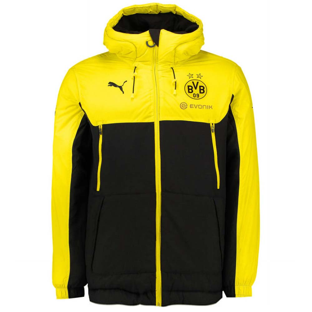 2017-2018 Borussia Dortmund Puma Bench Jacket (Yellow)