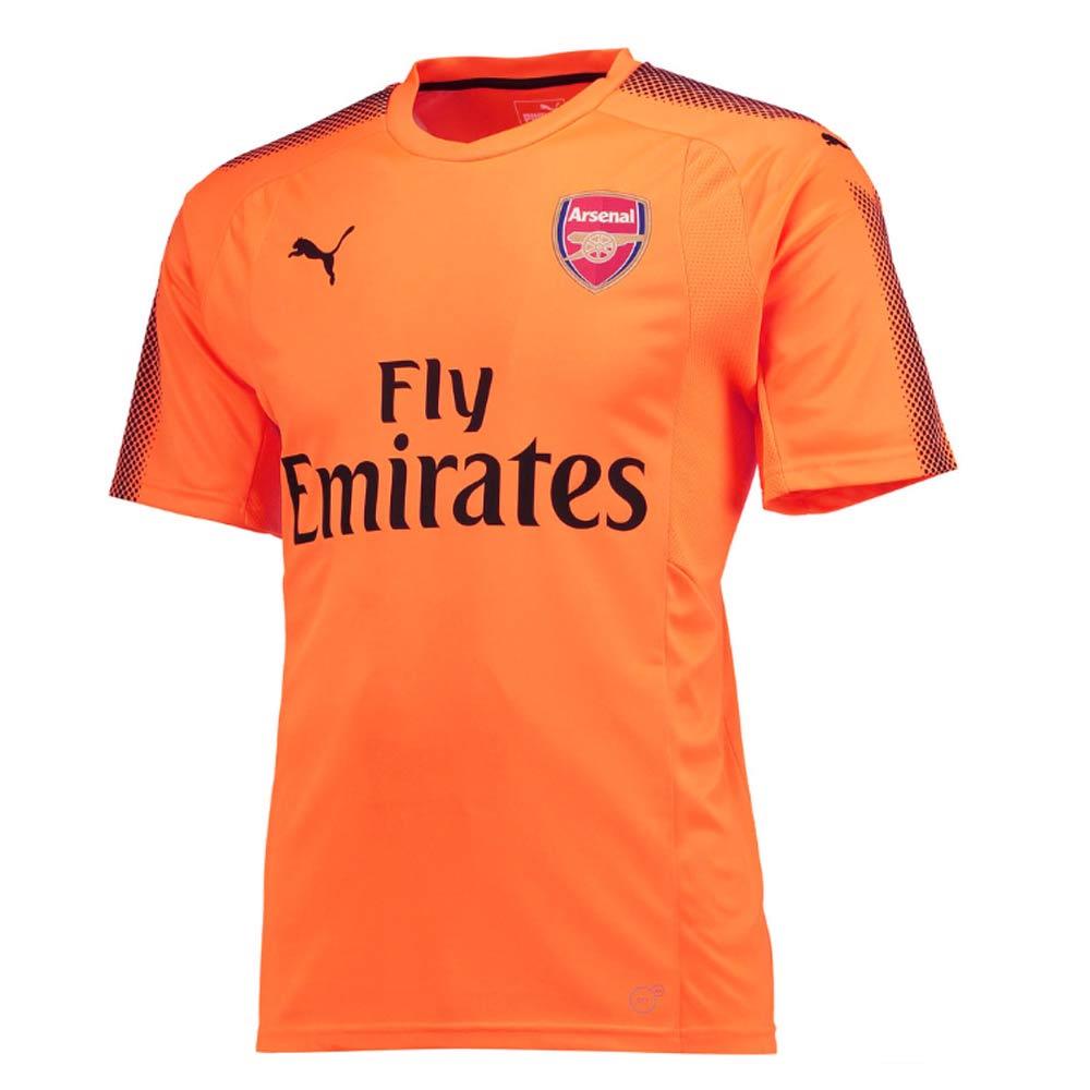 new concept 1a2a3 06a92 2017-2018 Arsenal Puma Away SS Goalkeeper Shirt (Orange) - Kids