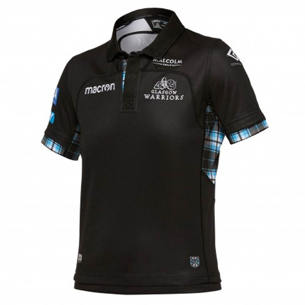 Glasgow Warriors 201617 Kids Home SS Replica Rugby Shirt