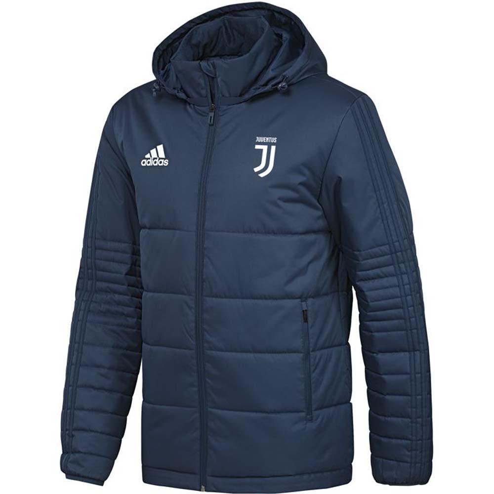 2017-2018 Juventus Adidas Padded Winter Jacket (Blue Night)