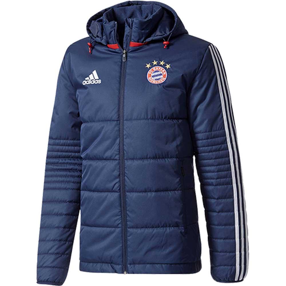 2017-2018 Bayern Munich Adidas Winter Jacket (Navy)