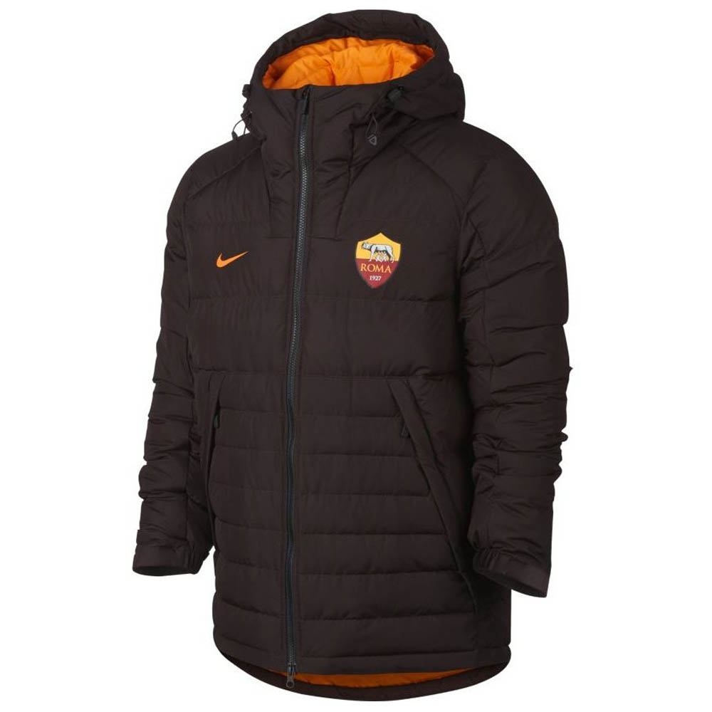 2017-2018 AS Roma Nike Authentic Down Fill Jacket (Brown)